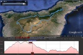 Ruta mtb 150 km en bicicleta de montaña Tenerife